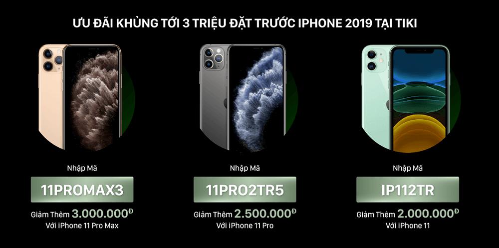 đặt trước iphone 2019 tại tiki
