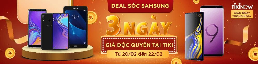 deal sốc Samsung giá độc quyền tại Tiki