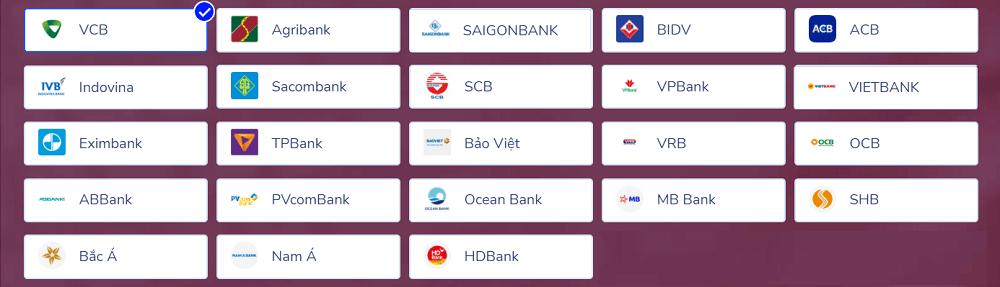 Các ngân hàng liên kết Momo được gói quà 500k.