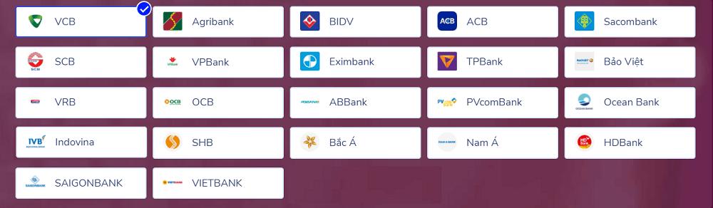 Các ngân hàng liên kết với Momo được gói quà 500k.