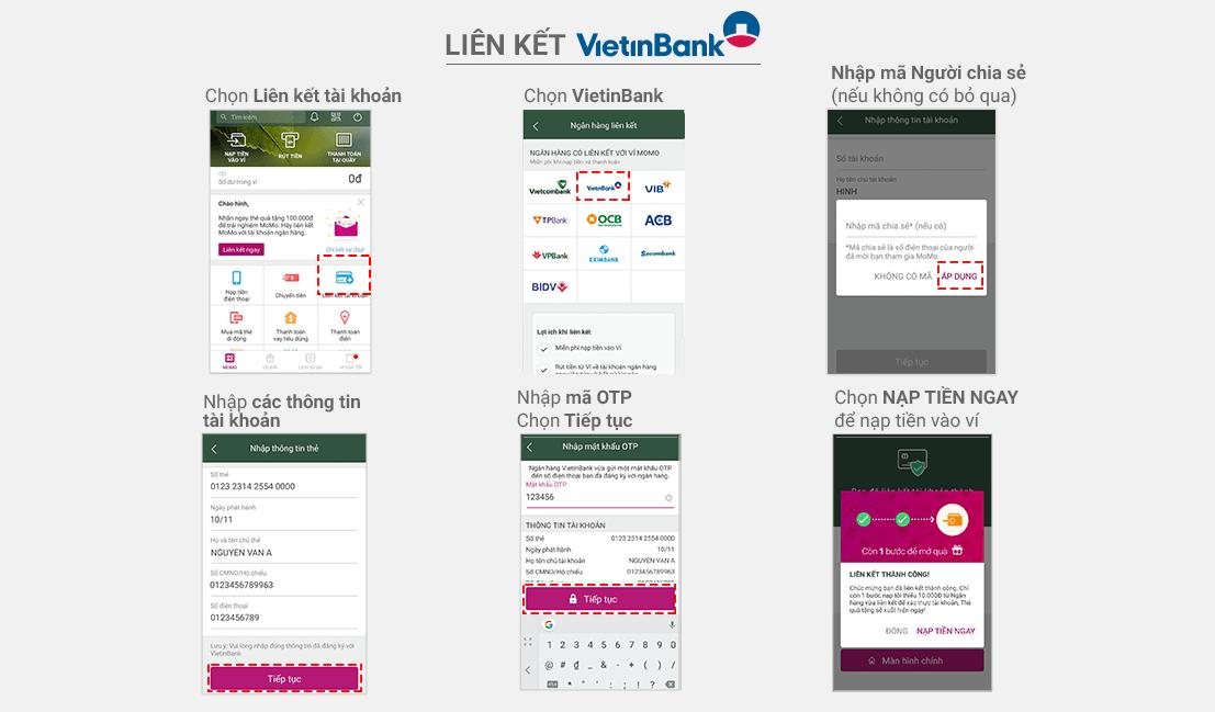 Liên kết ngân hàng vietinbank