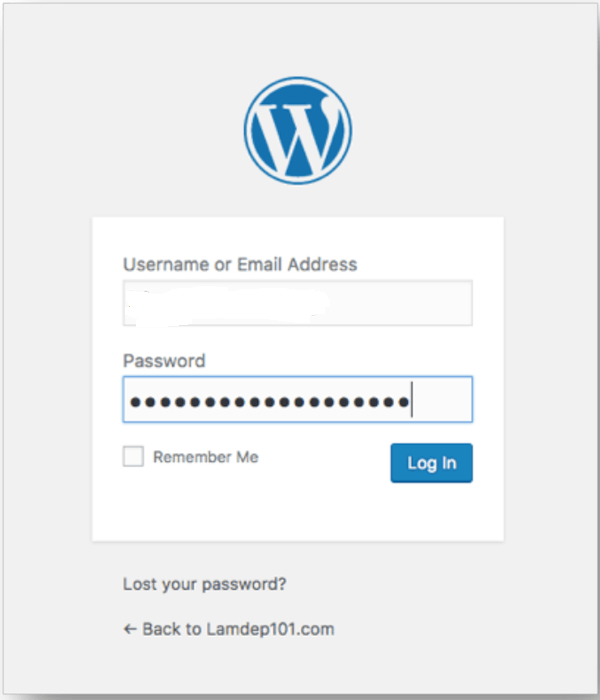 đăng nhập quản trị wordpress