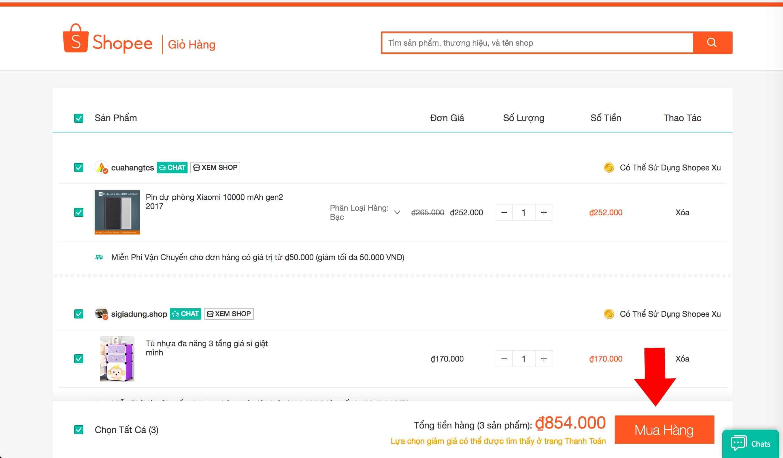 hướng dẫn nhập mã giảm giá shopee, mã khuyến mãi shopee