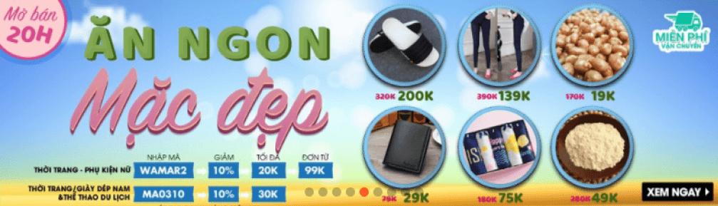 Mã giảm giá trên website shopee